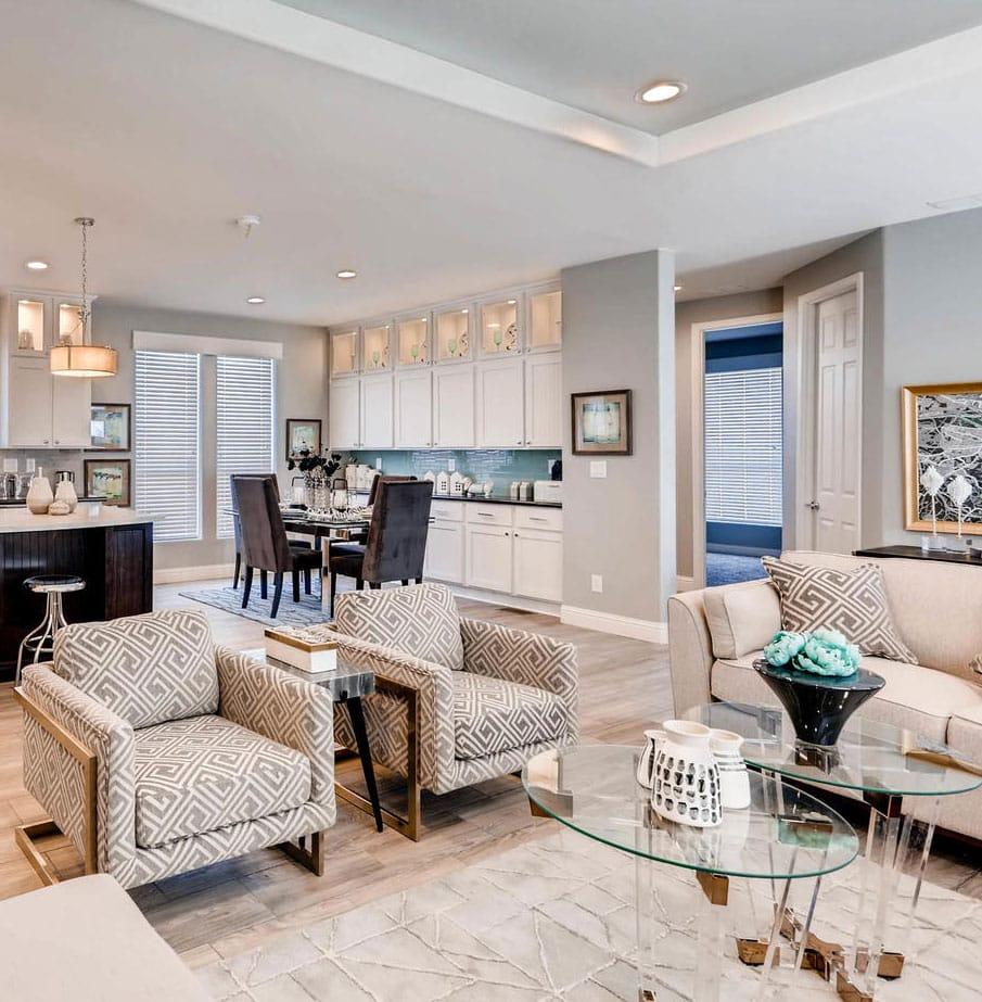 custom homes family room